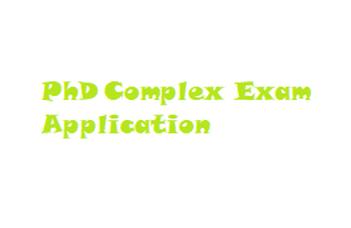 PPK - Application for the complex (comprehensive) examination – 2021/22/1 term