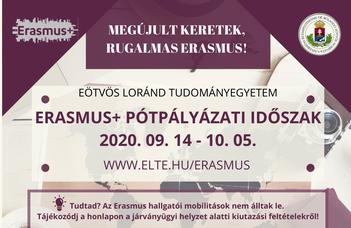 ERASMUS+ Hallgatói mobilitási program - pótpályázat