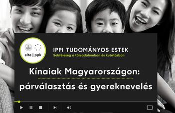 Előadások az IPPI Tudományos Estek – Sokféleség a Társadalomban és Kutatásban című sorozatban