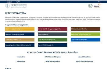 Megújult az ELTE Egyetemi Könyvtári Szolgálat honlapja